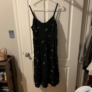 Black cami dress Old Navy with flowers